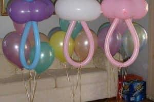 Imagenes de adornos con globos para baby shower y bautizos