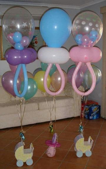 Imagenes de adornos con globos para baby shower y bautizos - Adornos baby shower nino ...