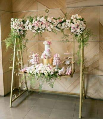 arreglos de flores para bautizo de niña