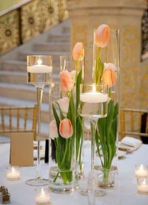 arreglos de mesa boda civil