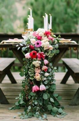 arreglos de mesa boda mexicana