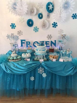 arreglos de mesa infantiles de frozen