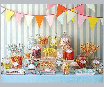 arreglos de mesa para bautizo con dulces hechos