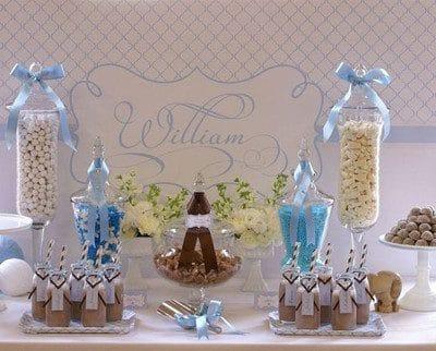 arreglos de mesa para bautizo con dulces originales
