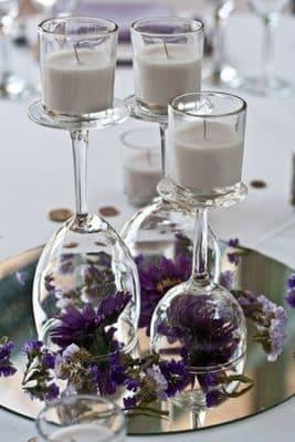 centro de mesas faciles para casamiento