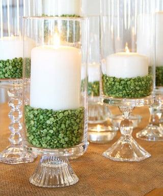 centros de mesa economicos con velas