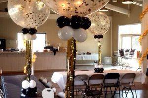 Hermosos centros de mesa para 50 años de matrimonio