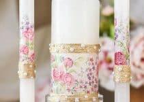 Originales ideas de centros de mesa para bautizo con velas