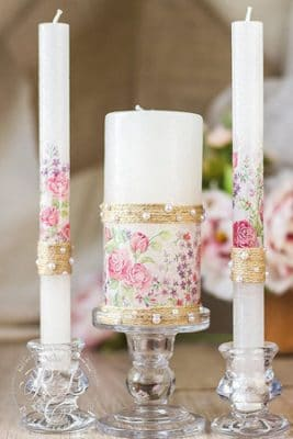 centros de mesa para bautizo con velas manualidades