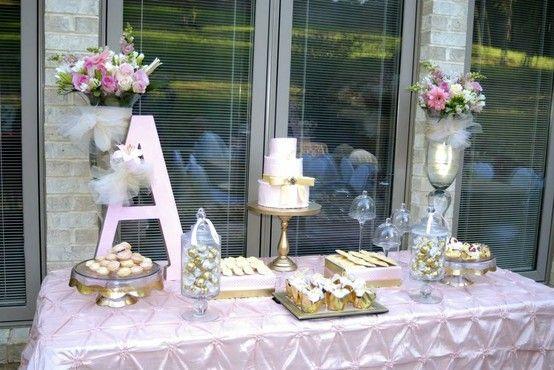 Aprende como decorar una mesa de bautizo para ni a - Decoracion para bautizo de nino y nina ...