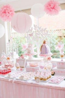 fotos de centros de mesa para bautizo de niña
