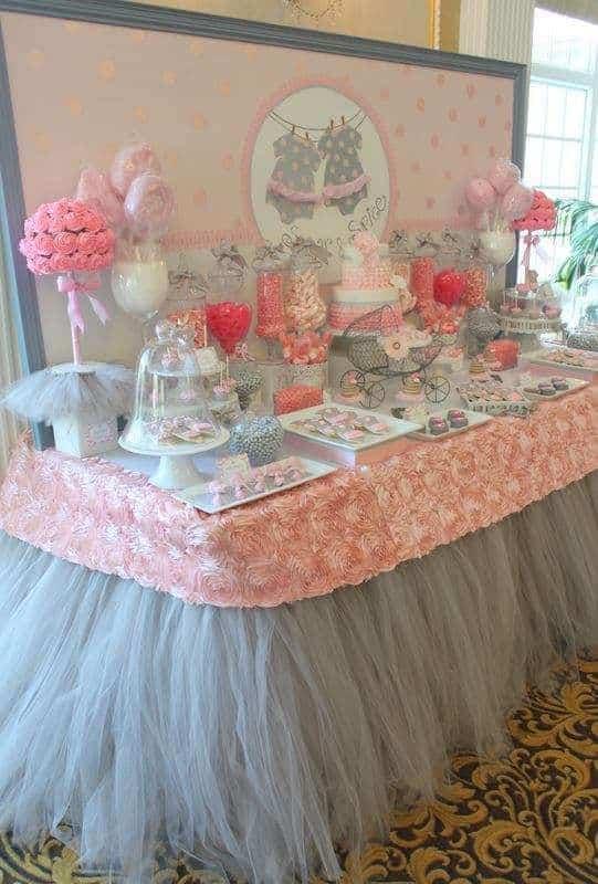 de decoracion de baby shower para ni a centros de mesa para