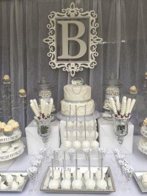mesas de chuches para bodas dulces