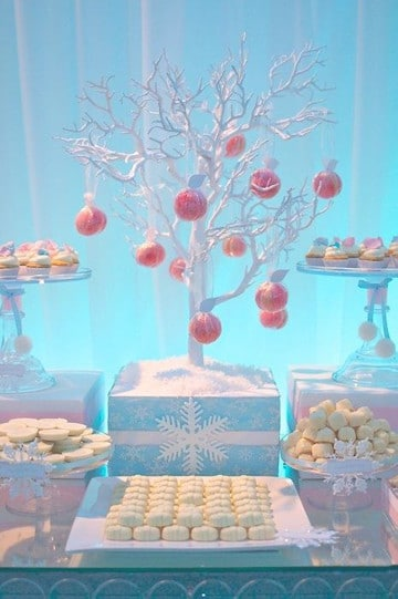 mesas de dulces para bautizo sencillas