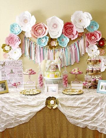 mesas de dulces para bautizo vintage