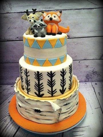 pasteles de baby shower de niño fondant