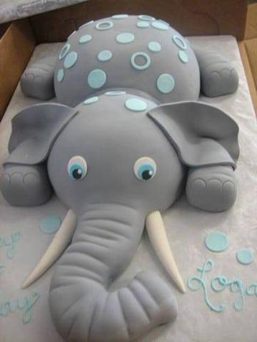 pasteles de baby shower de niño imagenes