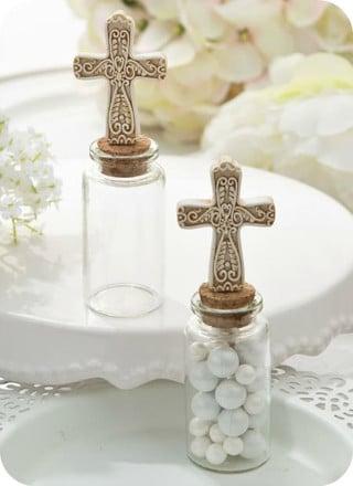 recuerdos de mesa para bautizo con dulces