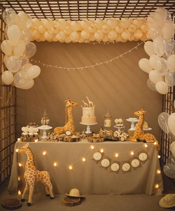tips para decoracion baby shower niña moderna