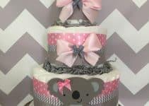Impresiona a todos con una torta de pañales para baby shower