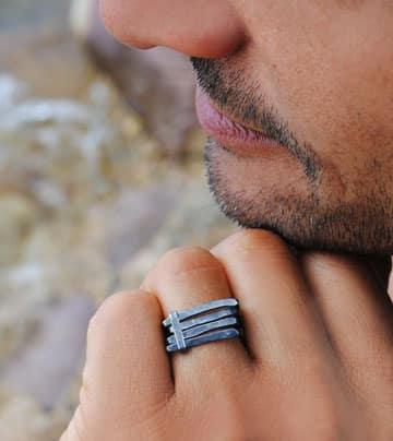 anillos de plata para hombre baratos