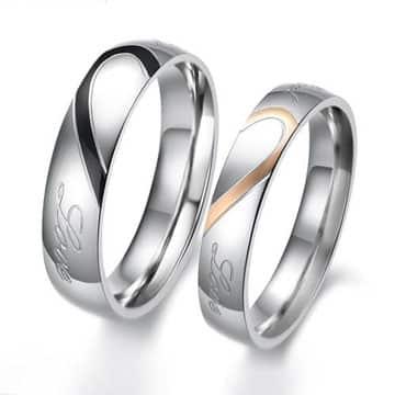 anillos de plata para hombre y mujer