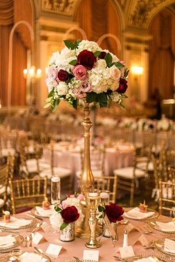 centros de mesa con flores naturales para boda