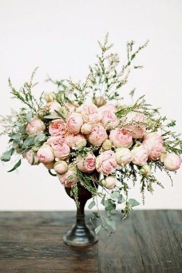 Hablan las flores en centros de mesa con flores naturales - Centros de plantas naturales ...