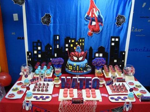 centros de mesa de spiderman economicos