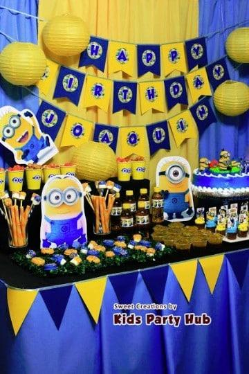 decoracion de minions para cumpleaños fiestas