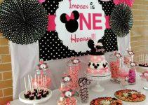 Imágenes temáticas en decoracion de minnie para cumpleaños
