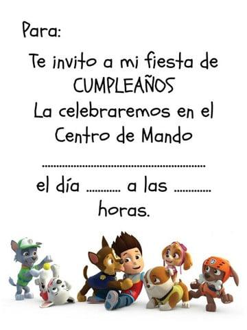 invitaciones cumpleanos infantiles para imprimir
