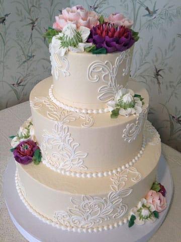 pasteles de boda elegantes 2015
