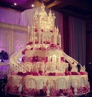 pasteles de boda elegantes con fuente