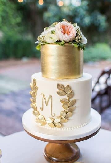 pasteles de boda sencillos y elegantes