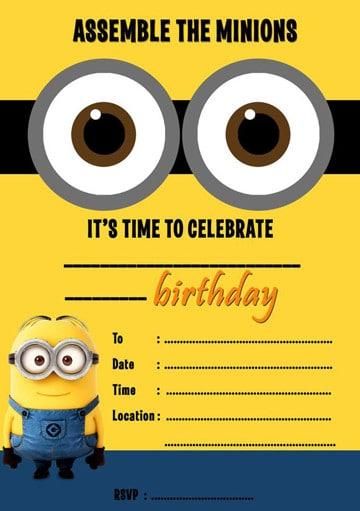 tarjetas de cumpleaños de minions animadas