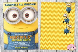 Tarjetas de cumpleaños de minions con imágenes para imprimir