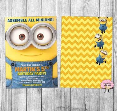 tarjetas de cumpleaños de minions gratis