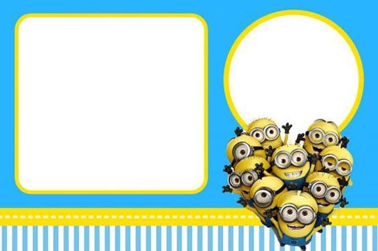 Tarjetas de cumpleaños de minions con imágenes para