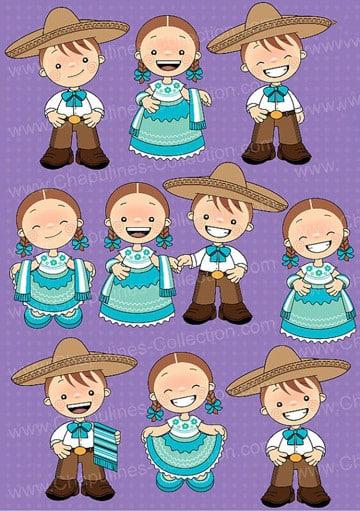 trajes de la independencia de mexico para niños