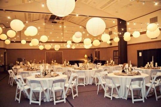 adornos de salon para boda con globos