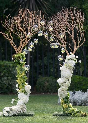 arreglos florales para 15 años elegantes