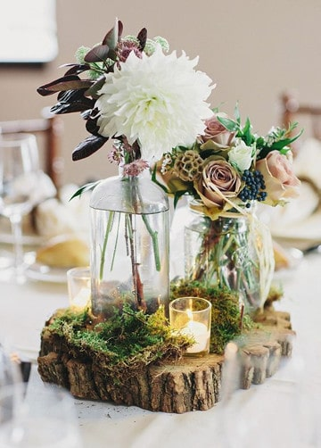 Hermosas bases para centros de mesa con flores en bodas for Bases para mesas de centro