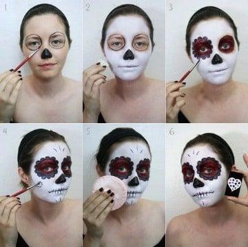 calaveras mexicanas maquillaje paso a paso