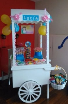 carritos de chuches para comuniones niños