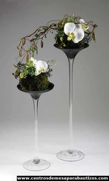 centros de mesa con orquideas naturales