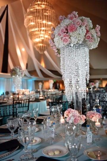 centros de mesa de cristal para boda