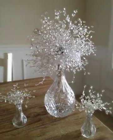 centros de mesa de cristal primera comunion