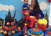 Decoraciones e imagenes de centros de mesa de superman