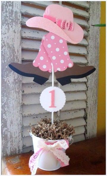 Arreglos Para Baby Shower Vaquero.Centros De Mesa Vaqueros Con Un Estilo Infantil